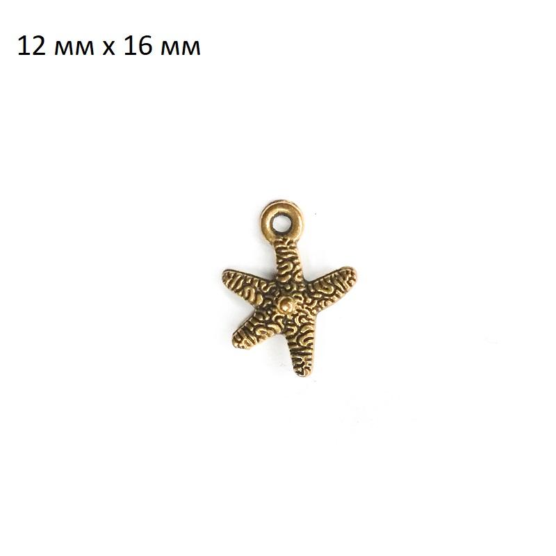 фото подвеска морская звезда ШМ20-Мзвезда2 (золото)