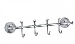 Планка с крючками (4 крючка) S-005874A Savol хром
