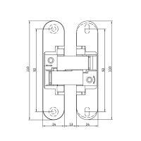 Скрытая петля Anselmi AN 160 3D ALU (506). схема