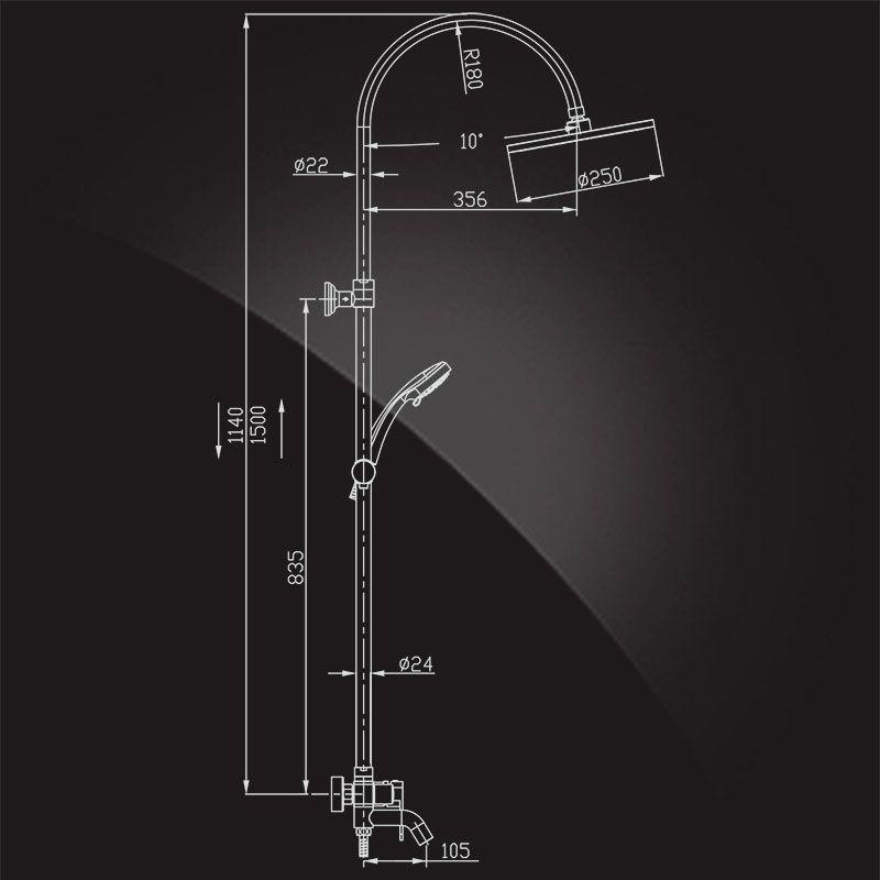 Душевая система Elghansa Mondschein 2330235-2D White