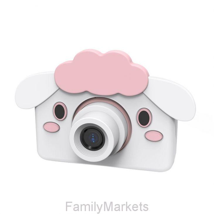 Детский фотоаппарат 24 Мп с чехлом с ушками