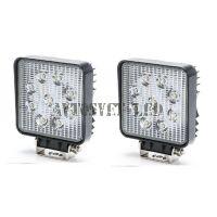 Комплект светодиодных фар K-ASK9-27W SLIM рабочий свет