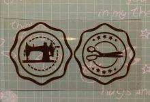 штамп круглый размер 30 мм
