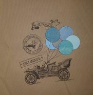Эрго рюкзак Гусленок СТАНДАРТ Эх прокачу! 104 С Какао 024 - ЛП Голубика 024 - ПД голубая бязь