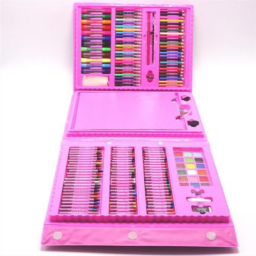Набор для рисования со складным мольбертом Super Mega Art Set, 208 предметов, Цвет Розовый