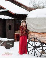 Шапка из соболя и митенки. русский зимний головной убор