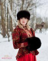 Меховая муфта-сумка купить в Москве