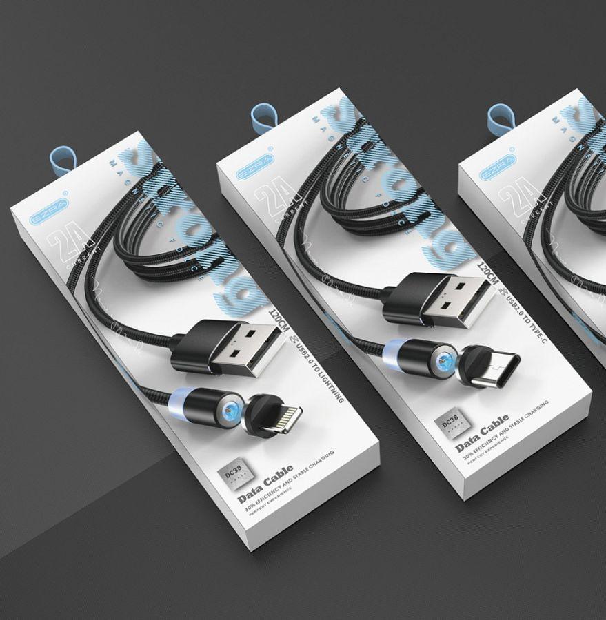 EZRA DC38 кабель магнитный USB 2A (TYPE-C) 1.2м