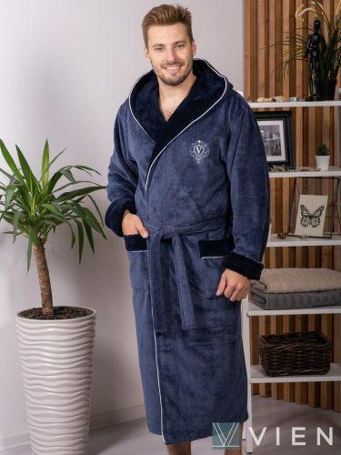 Мужской махровый халат из бамбука Lucas denim