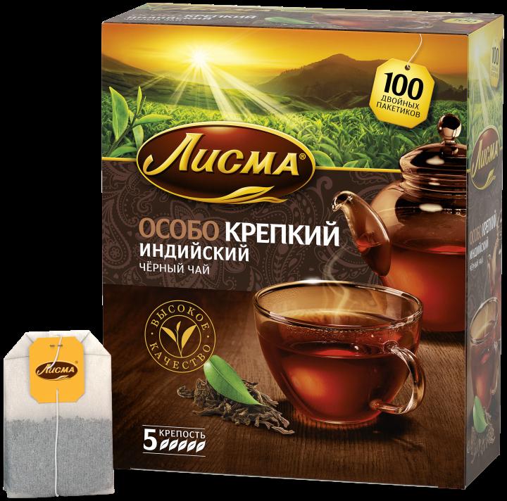 Чай Лисма Особо крепкий с/я 100пак