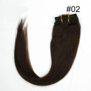 Натуральные волосы на заколках №002 (55 см) - 7 заколок