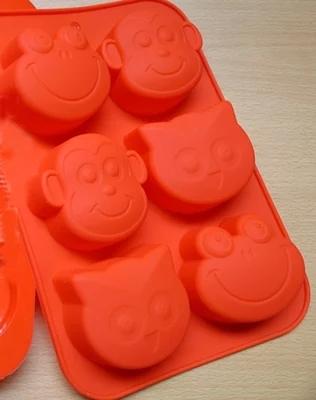 Силиконовые формы  для выпечки (обезьяна, лягушка, сова), 6 шт