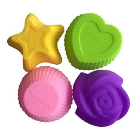 Силиконовые формочки для кексов и желе, 12 шт