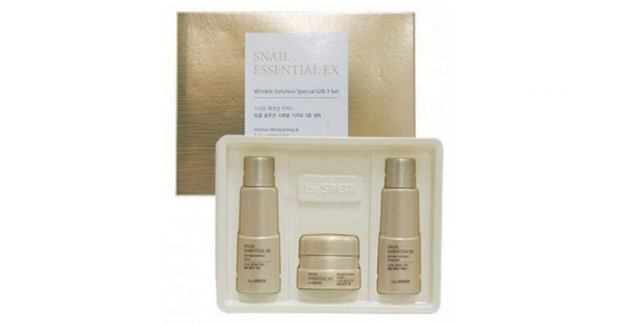 Набор уходовый антивозрастной  (Not fot sale)Snail Essential EX Wrinkle Solution Special Gift 3 Set 31мл*2/10мл