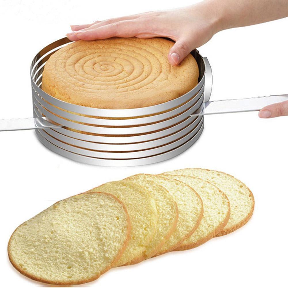 Регулируемая форма для выпечки круглая с нарезкой 24-30 см, высота 8,5 см