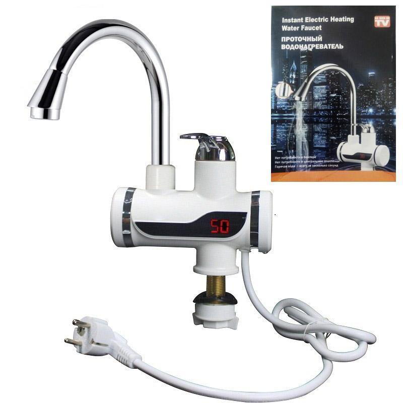 Проточный электрический водонагреватель с электронным дисплеем