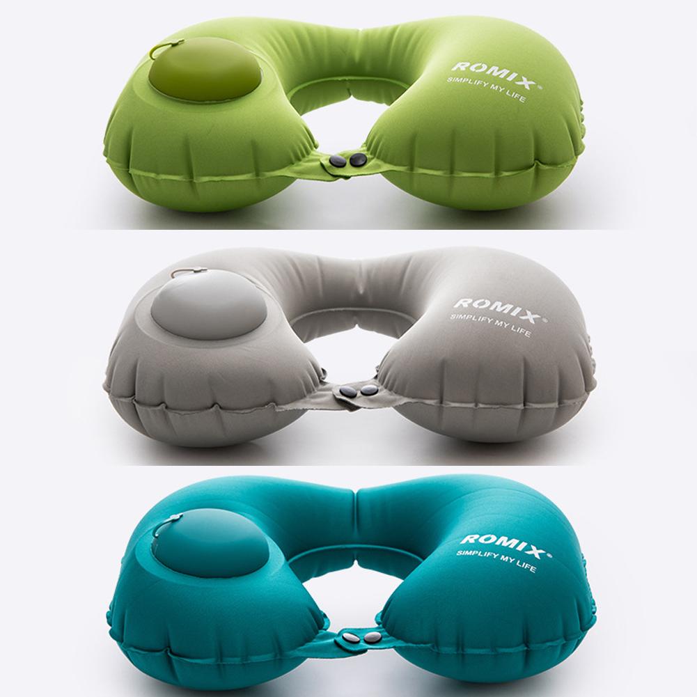 Надувная подушка для путешествий с ручной накачкой