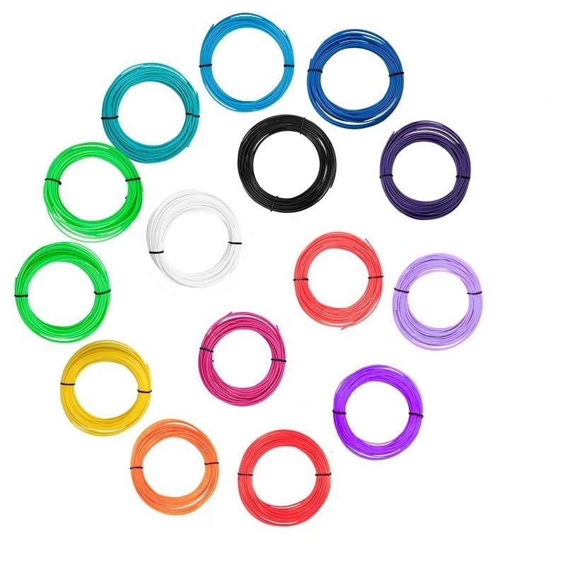 Набор пластика для 3D ручки 5 м, 15 цветов