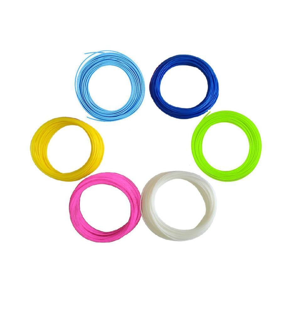Набор пластика для 3D ручки 10 м, 6 цветов