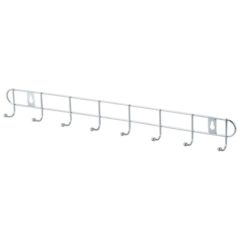 Металлическая вешалка-планка с крючками