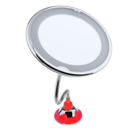 Косметическое зеркало на вакуумной присоске и подсветкой