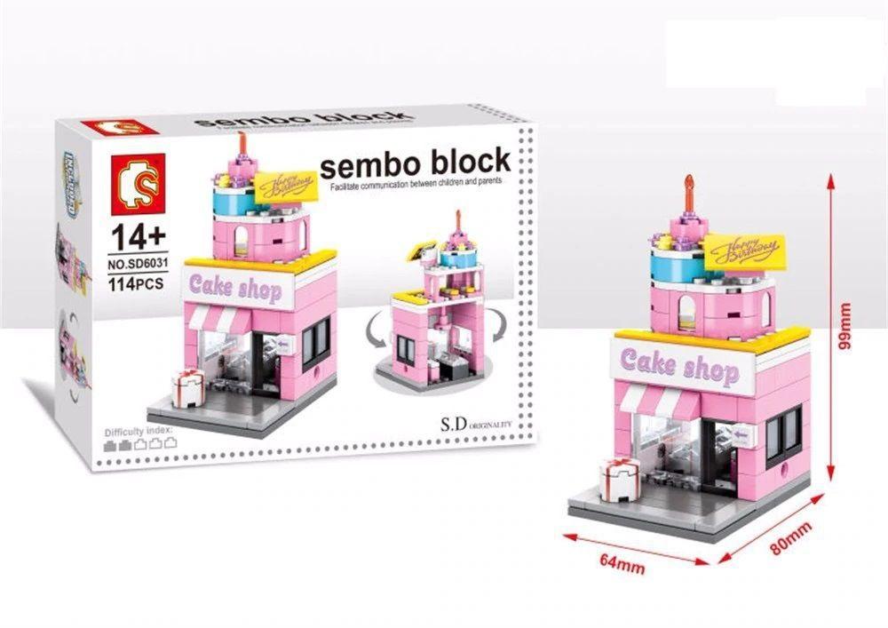 Конструктор Block Mini World - Cake Shop - Кондитерская