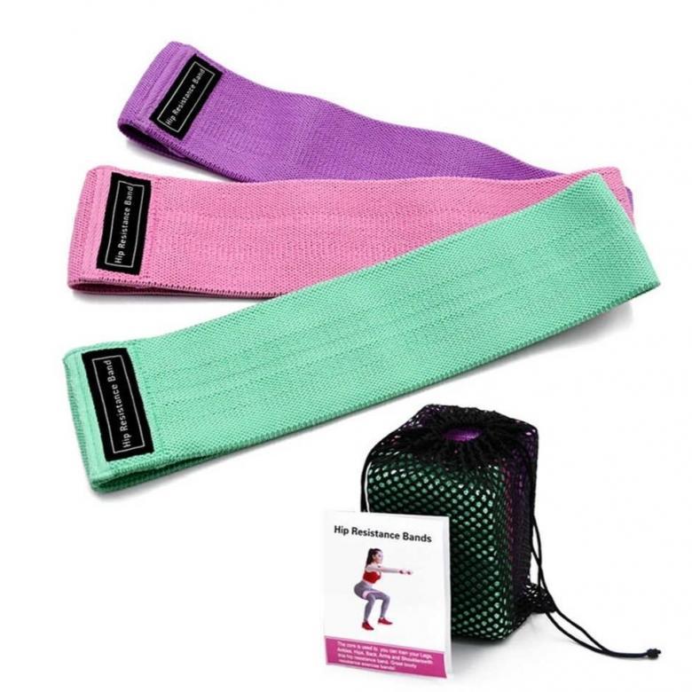 Комплект тканевых резинок для фитнеса Luting Fit, 3 шт
