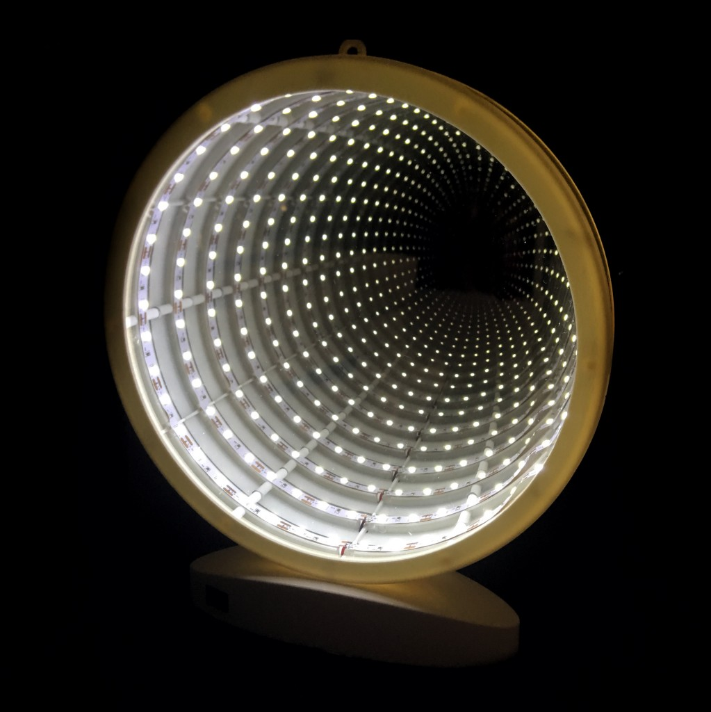 Зеркальный ночник с эффектом бесконечности - форма Круг