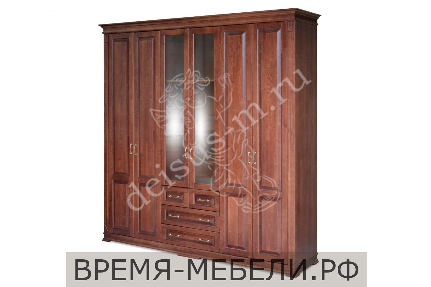 Шкаф шестистворчатый Верди-М