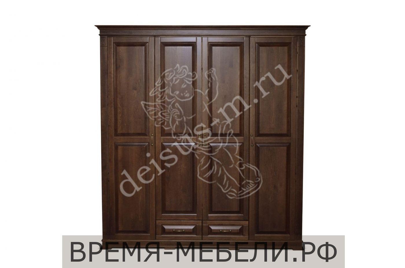 Шкаф четырехстворчатый Верди-М 2