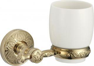 Стакан керамический с настенным держателем S-005858B Savol золото