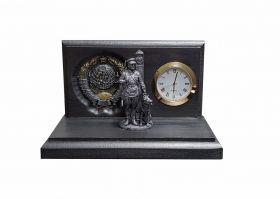 Настольные часы «Граница на замке». Пограничная служба.Герб СССР v2