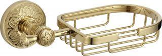 Мыльница решетка настенная S-005832B Savol золото