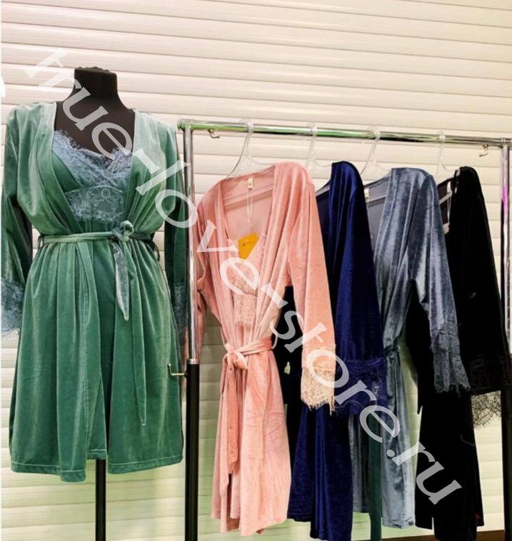720226- Цена за 2 шт, Пижама двойка  бархат (L,XL)