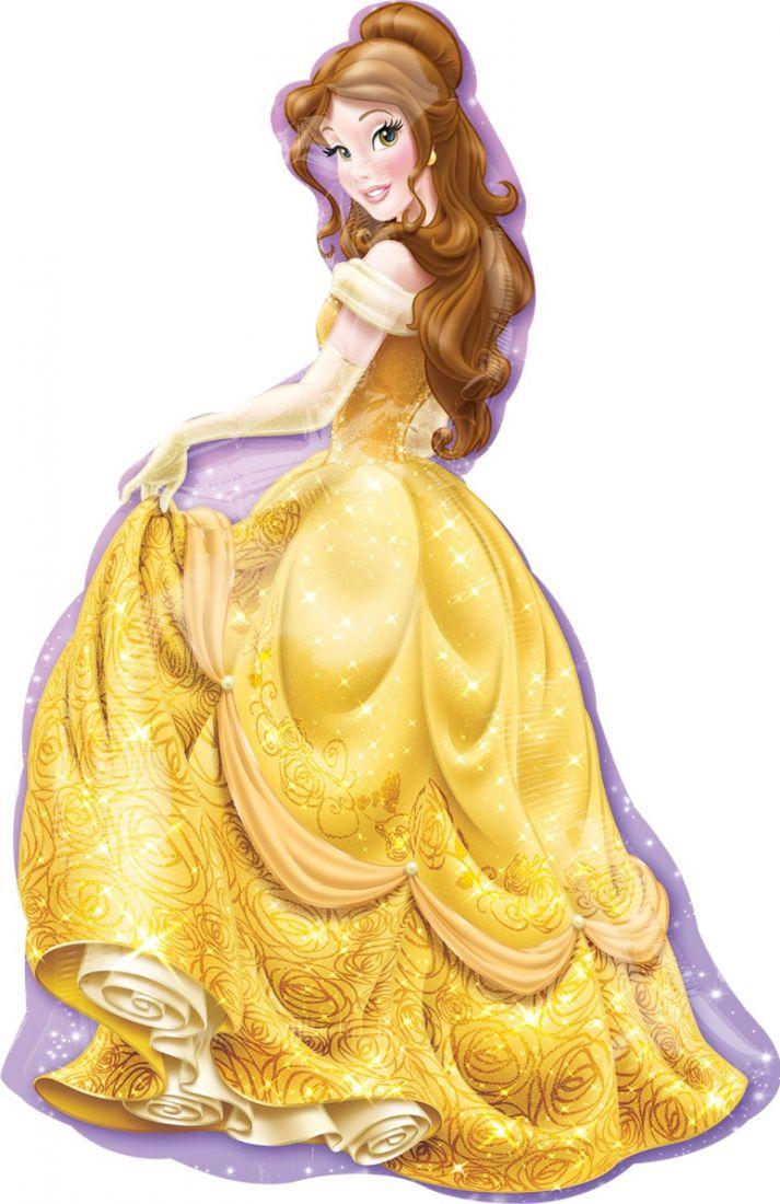 Белль (Красавица и Чудовище) фигурный шар фольгированный с гелием