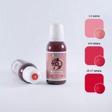 Колорант для окрашивания жирорастворимый Kreda  Bio КРАСНЫЙ 10мл (Oil-gel 02)