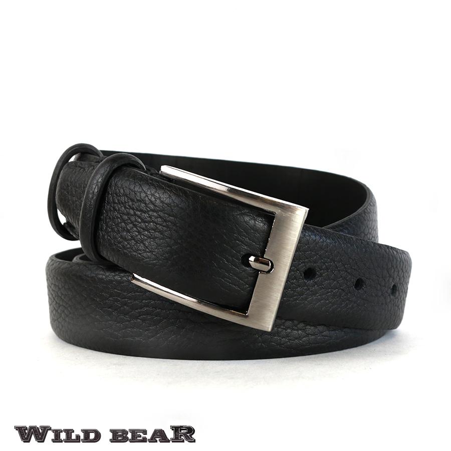 Ремень WILD BEAR RM-044f Black Premium (в деревянном футляре)