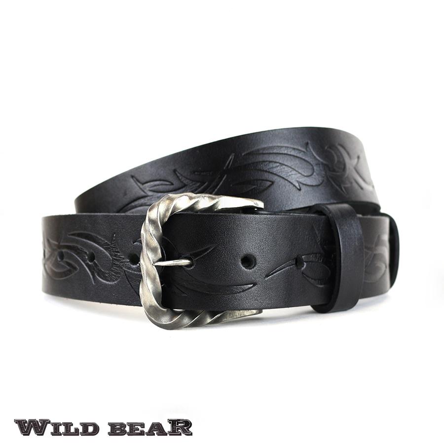 Ремень WILD BEAR RM-053f Black Premium (в деревянном футляре)
