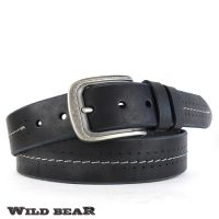 Ремень WILD BEAR RM-041m Black (в кожаном чехле)
