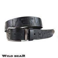Ремень WILD BEAR RM-050m Black (в кожаном чехле)