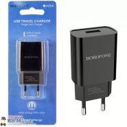 БП сетевой, 1 USB Borofone, BA20A, 2100mA, черный