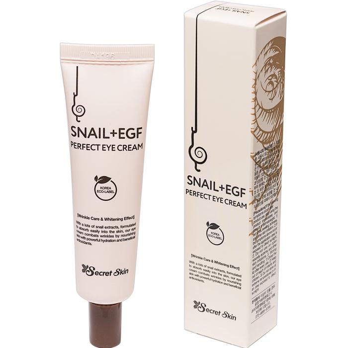 Крем для глаз с экстрактом улитки Snail+EGF Perfect Eye Cream 30гр