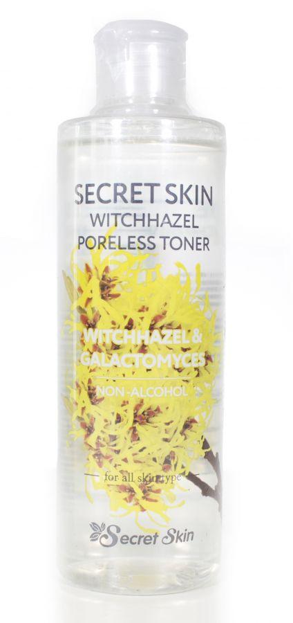 Тонер  для лица с экстрактом гамамелиса NEW Secret Skin Witchhazel Poreless Toner 250мл