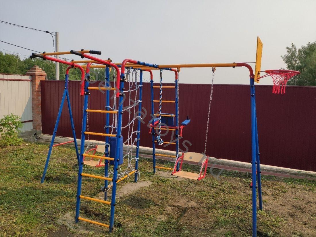 Игровой комплекс ДСК Atlet | Канатный лаз+двойные качели