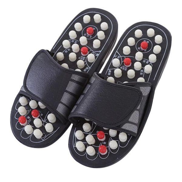 Акупунктурные массажные тапочки с круглыми пружинящими кнопками