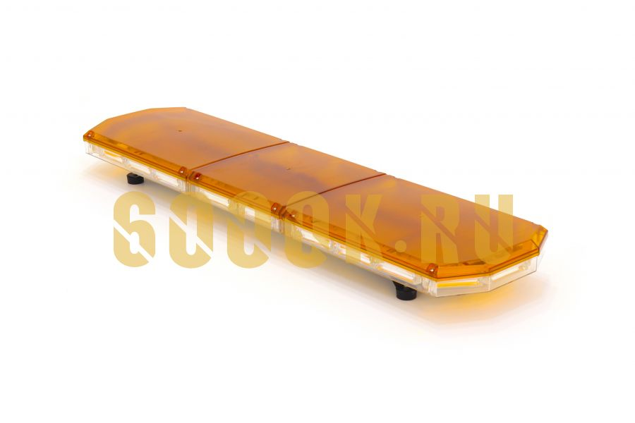 Проблесковая автолюстра Буран 220 ватт оранжевый страбоскоп с пультом на проводе