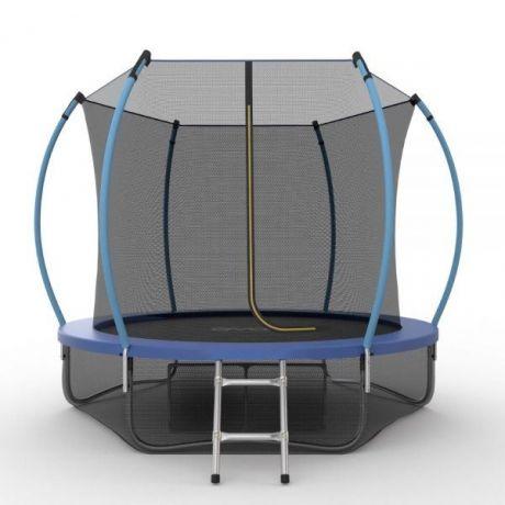 Батут с внутренней сеткой и лестницей Evo Jump Internal 8ft (Blue) + нижняя сетка