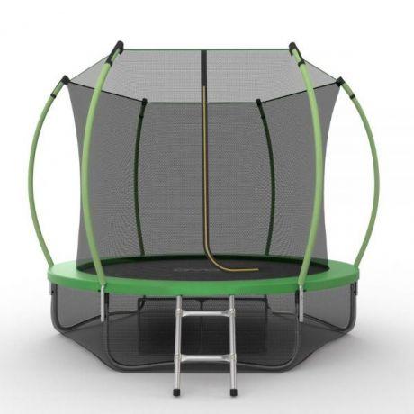 Батут с внутренней сеткой и лестницей Evo Jump Internal 10ft (Green) + нижняя сетка