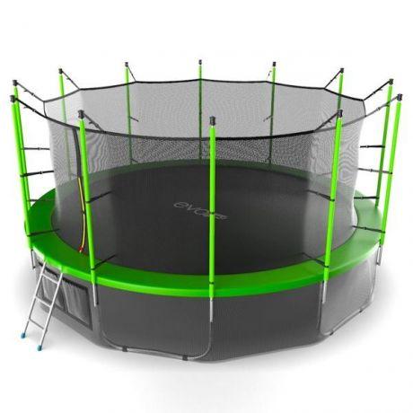 Батут с внутренней сеткой и лестницей Evo Jump Internal 16ft (Green) + нижняя сетка
