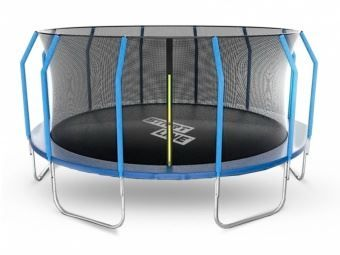 Батут StartLine Fitness 16 футов (488 см) с внутренней сеткой и держателями